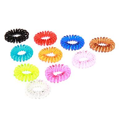 Çocuklar İçin (10pcs) Moda renkli Plastik Saç Kravatlar (Turuncu, Yeşil ve daha fazlası)
