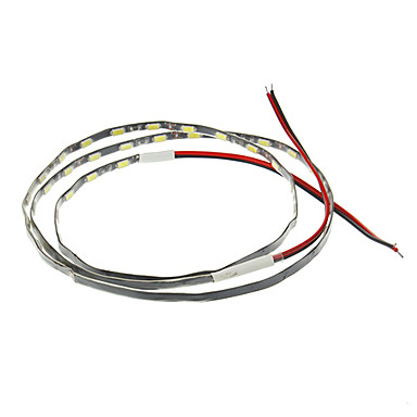 1m Esnek LED Şerit Işıklar 54 LED'ler 5630 SMD / 5730 SMD Beyaz Dekorotif / Araçlar İçin Uygun 12 V 1pc