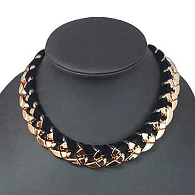 Bărbați Rotund Coliere Choker Coliere Vintage Teracotă Flanelă Coliere Choker Coliere Vintage . Zilnic Casual