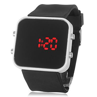 Masculino Relógio Esportivo Digital LED / Calendário Silicone Banda Relógio de Pulso Preta