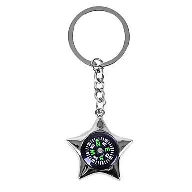 kişiselleştirilmiş kazınmış hediye yaratıcı yıldız şekilli pusula tarzı Anahtarlık