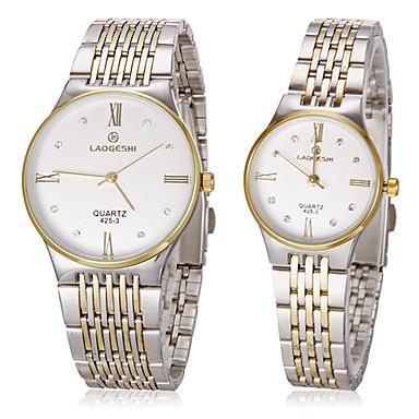 Kadın's Moda Saat Bilek Saati Elbise Saat Sahte Elmas Saat Quartz imitasyon Pırlanta Paslanmaz Çelik Bant Altın Rengi