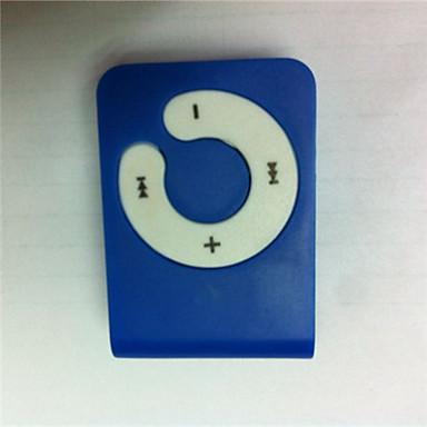 Mini Reproductor MP3 Azul con Pinza de Tarjeta Micro SD y TF