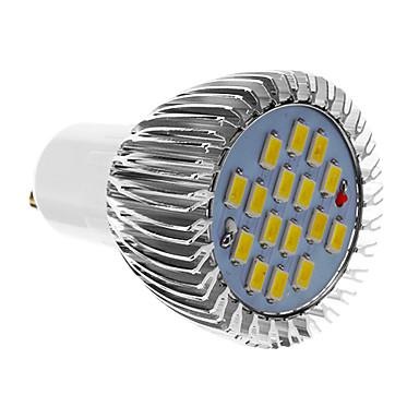 GU10 LED Spot Işıkları 16 SMD 5730 640 lm Serin Beyaz AC 85-265 V
