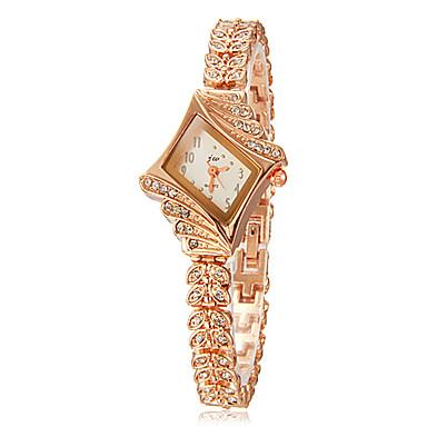 Bayanların Moda Saat Bilezik Saat Quartz imitasyon Pırlanta Alaşım Bant Işıltılı Zarif Altın Rengi Altın Gümüş