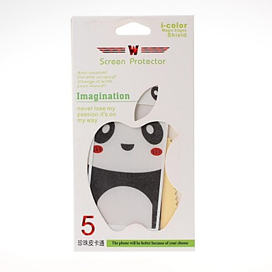 Panda Pattern Front and Back Leather Screen Protector Stickers for iPhone 5/5S
