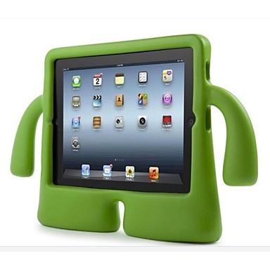 Кейс для Назначение iPad 4/3/2 Защита от удара со стендом Безопасно для детей Кейс на заднюю панель Однотонный Этиленвинилацетат для iPad