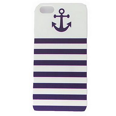 IPhone 5/5S için Çapa Deniz Çizgili Desen Sert Kılıflar