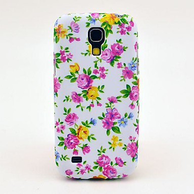 Samsung Galaxy S4 Mini I9190 için Renkli Güller Desen Arka Kapak TPU Kılıf