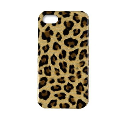 IPhone 4/4S için Elonbo J2D Leopard Baskı Hard Case Arka Kapak