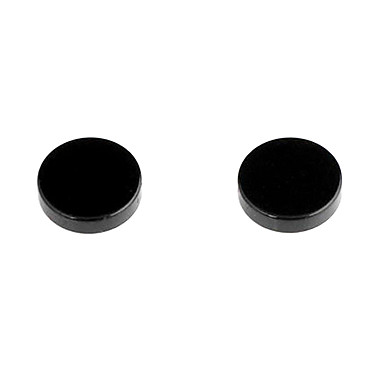 Classic Round Magnet Black Alloy Stud Earrings (1 Pair) Jewelry Christmas Gifts