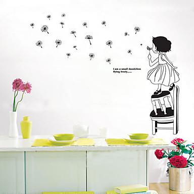 Karakterler Duvar Etiketler İnsanlar Duvar Çıkartmaları Dekoratif Duvar Çıkartmaları, Vinil Ev dekorasyonu Duvar Çıkartması Duvar