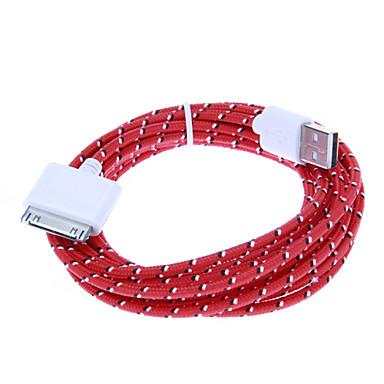 30-Pin iPhone4/4s için Male (3.0m) Line USB 2.0 Erkek Örgü