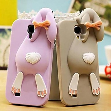 Solid Rabbit Silicone Case for Samsung Galaxy S4 I9500 (Assorted Color)