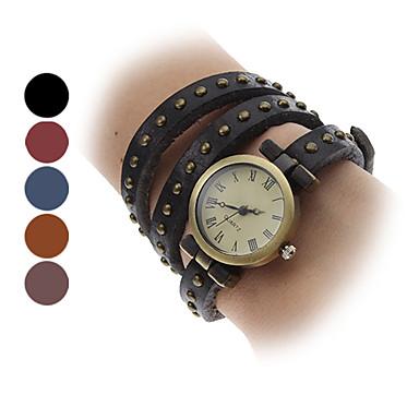 Mulheres Relógio de Moda Bracele Relógio Quartzo Banda Vintage Boêmio Preta Azul Vermelho Marrom Cáqui