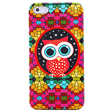Colorful Glasögon Owl Pattern Hard Case för iPhone 4/4S