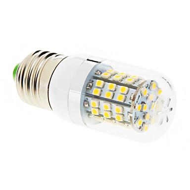 550-680 lm E26/E27 LED Mısır Işıklar T 60 led SMD 2835 Sıcak Beyaz AC 220-240V
