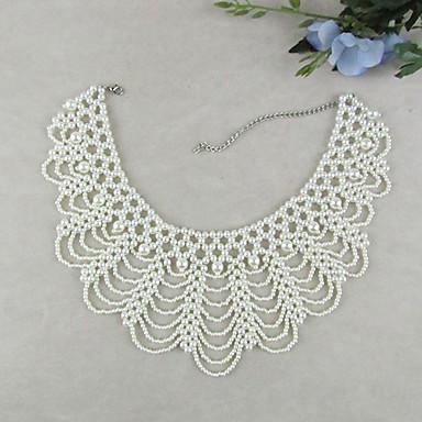 Kadın's İnci Yaka - İnci, İmitasyon İnci Vintage, Moda, Zarif Beyaz Kolyeler Mücevher 1pc Uyumluluk Düğün, Parti, Özel Anlar