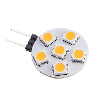 billige LED & Belysning-0.5 W LED-spotlys 75-85 lm G4 6 LED Perler SMD 5050 Varm hvid 12 V