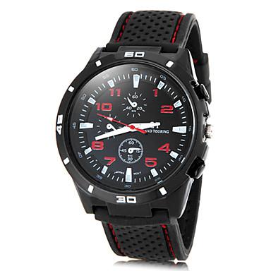 Men's Sport Watch Quartz Band Black Brand