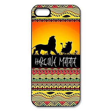 Hakuna Matata am Sunset Lion King Muster Kunststoff Hard Case für iPhone 5/5S