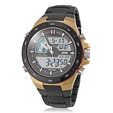 זול שעוני גברים-SKMEI בגדי ריקוד גברים שעוני ספורט שעון יד שעון דיגיטלי קווארץ דיגיטלי קוורץ יפני שחור 30 m עמיד במים Alarm לוח שנה אנלוגי-דיגיטלי אופנתי - לבן שחור אדום שנתיים חיי סוללה / כרונוגרף / זורח / LCD
