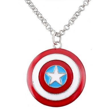 Miss ROSE®Captain America Star Shield Pendant Necklace