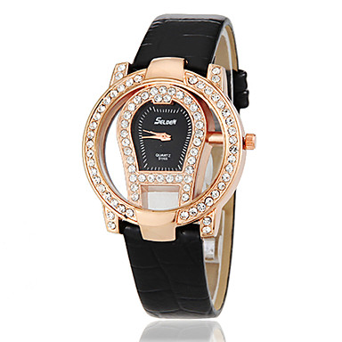 Frauen Novel Diamante Design Runde Dial Legierung Band Quarz Analog Fashion Watch (Farbe sortiert)