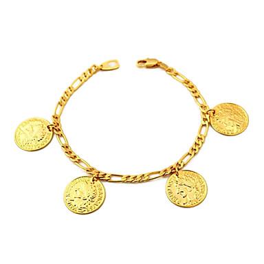 Pentru femei Brățări cu Talismane Figaro lanț femei Placat Auriu Bijuterii brățară Auriu Pentru Zilnic