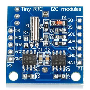 için diy i2c rtc DS1307 gerçek zamanlı saat modülü (arduino için) (1 x lir2032)