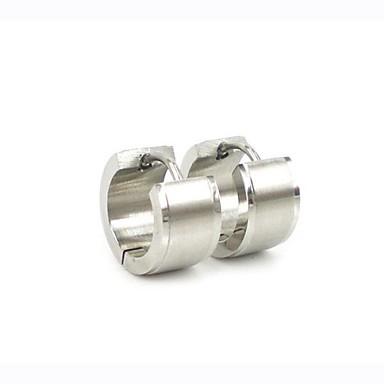 남성용 링 귀걸이 패션 스테인레스 티타늄 스틸 Circle Shape 보석류 크리스마스 선물 일상 캐쥬얼 의상 보석