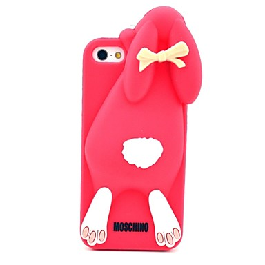 Cute Rabbit Buck Teeth Pattern Silicone Soft Case for iPhone 5/5S (Optional Colors)