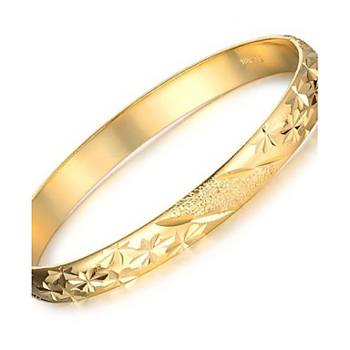 Women's Cuff Bracelet - 18K Gold Plated, Gold Plated Unique Design, Fashion Bracelet Gold For Wedding Party Daily
