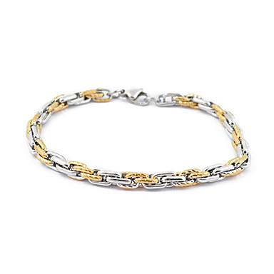 paslanmaz çelik, altın ve gümüş yuvarlak zincir bilezik
