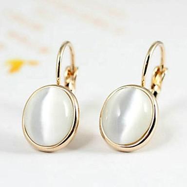 Kadın's Damla Küpeler Kristal Altın Kaplama Opal Mücevher Düğün Parti Günlük