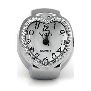 pentru Doamne Quartz Bandă Heart Shape Argint