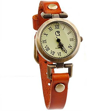 Женская Ретро Leather Fashion кварцевые часы (разных цветов)
