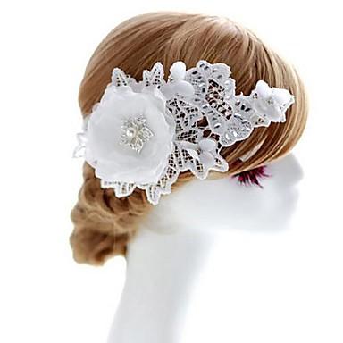 Femei Fata cu Flori Dantelă Ștras Material Textil Diadema-Nuntă Ocazie specială Flori