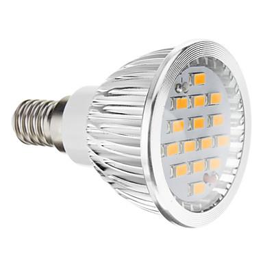 E14 GU10 GU5.3(MR16) E26/E27 Lâmpadas de Foco de LED 15 leds SMD 5730 Branco Quente Branco Frio 380lm 2700-3500K AC 100-240V