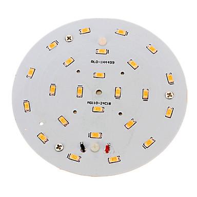 1pc 10 W 800-900 lm 24 LED Boncuklar SMD 5730 Sıcak Beyaz 220-240 V / RoHs