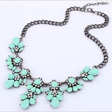 Pentru femei Cristal Coliere Modă Ștras Aliaj Albastru Deschis Curcubeu Verde Deschis Coliere Bijuterii 1 buc Pentru Nuntă Petrecere Zilnic Casual
