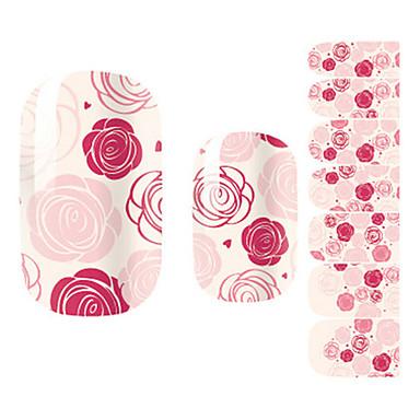 28PCS Pink Rose de design Nail Art Stickere