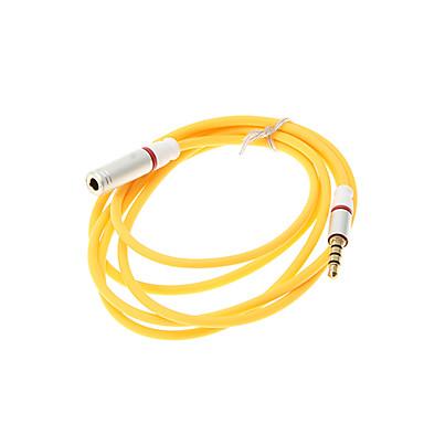 Kadın Kablosu 1.2M 4ft Yardımcı Aux Ses Kablosu 3.5mm Jack Erkek