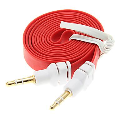 1M 3.3FT Noodle plat auxiliar Aux audio cablu 3.5mm Jack Male către Male cablu