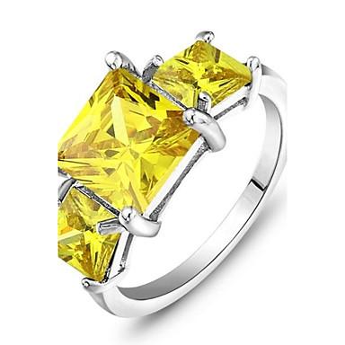 Pentru femei Inel de declarație Argintiu Zirconiu Cubic Nuntă Petrecere Zilnic Costum de bijuterii