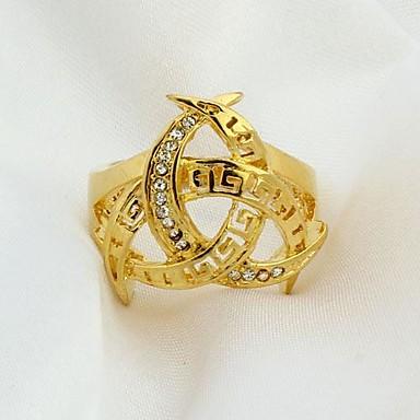 Pentru femei Band Ring Auriu Placat Auriu Modă Cadouri de Crăciun Nuntă Petrecere Zilnic Costum de bijuterii