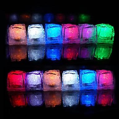 Lumina 12pcs de schimbare a culorii cuburi de gheata cu LED-uri petrecerea de nunta de Crăciun Bar Restaurant