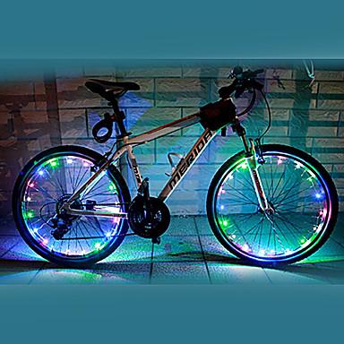 Bisiklet Işıkları tekerlek ışıkları LED Bisiklet Su Geçirmez Renk Değiştiren AA Lümen Batarya Bisiklete biniciliği-FJQXZ