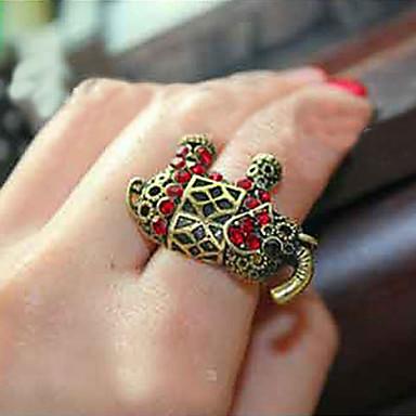 Yüzükler Parti / Günlük Mücevher Yapay Elmas Kadın İfadeli YüzüklerAyarlanabilir Bronz