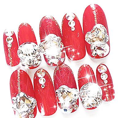 10 pcs Tırnak Takısı tırnak sanatı Manikür pedikür Günlük Soyut / Düğün / Moda / Nail Jewelry